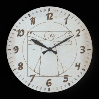 Vitruvian Snowman Clock