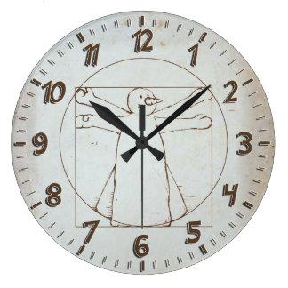 Vitruvian Snowman Large Clock