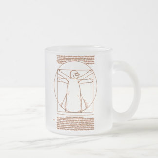 Vitruvian Snowman 10 Oz Frosted Glass Coffee Mug