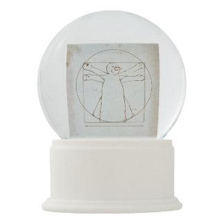 Vitruvian Snowman Snow Globe