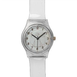 Vitruvian Snowman Wrist Watch