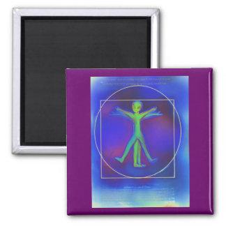 Vitruvian Space Alien magnet