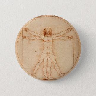 Vitruviano Man Pinback Button