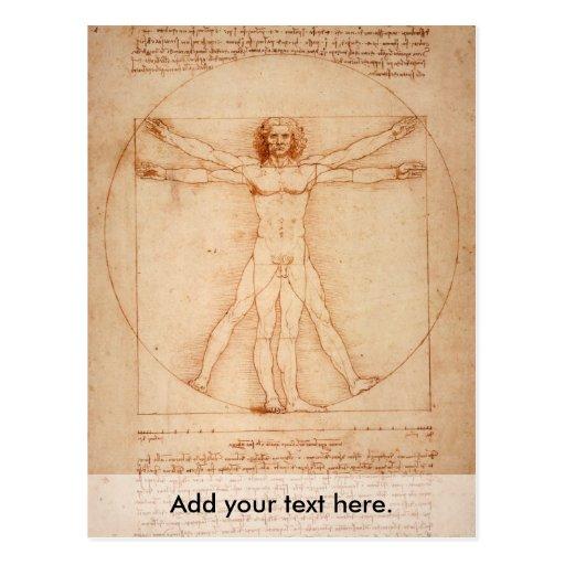 Vitruviano Man Post Card