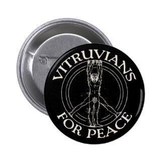 Vitruvians for Peace Button