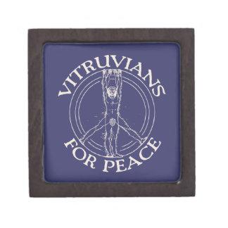 Vitruvians para la paz caja de joyas de calidad