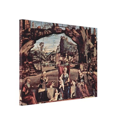 Vittore Carpaccio - Enthroned Madonna Gallery Wrap Canvas