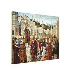 Vittore Carpaccio - Hl of Predigt Stretched Canvas Print