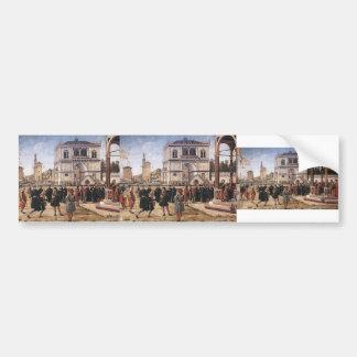 Vittore Carpaccio-Repatriation of Ambassadors Bumper Stickers