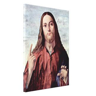 Vittore Carpaccio - Salvator Mundi Stretched Canvas Print