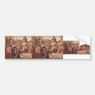 Vittore Carpaccio-St. George Baptising the Gentile Bumper Stickers