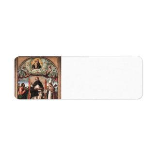 Vittore Carpaccio- St. Thomas in Glory Labels