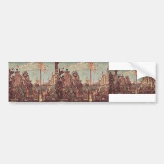 Vittore Carpaccio-The Meeting of Etherius & Ursula Bumper Stickers