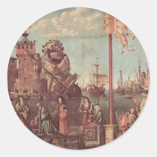 Vittore Carpaccio-The Meeting of Etherius Ursula Sticker