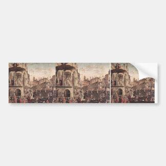Vittore Carpaccio- The Miracle of the Relic Bumper Stickers