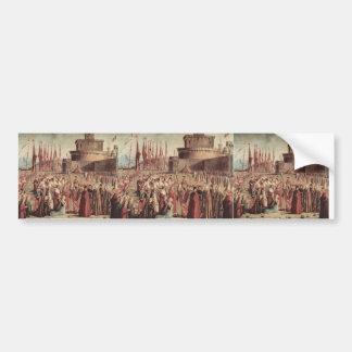 Vittore Carpaccio- The Pilgrims Meet Pope Cyriac Bumper Stickers