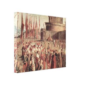 Vittore Carpaccio- The Pilgrims Meet Pope Cyriac Canvas Print