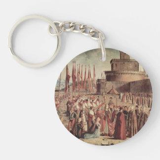 Vittore Carpaccio- The Pilgrims Meet Pope Cyriac Key Chain