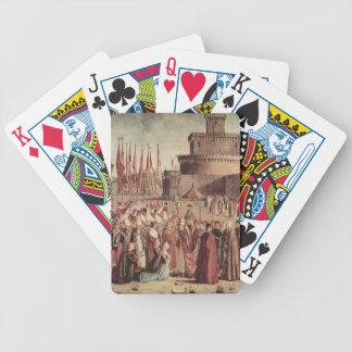 Vittore Carpaccio- The Pilgrims Meet Pope Cyriac Bicycle Card Decks