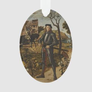 Vittore Carpaccio - Young Knight in a Landscape Ornament