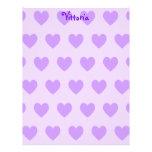Vittoria en púrpura membretes personalizados