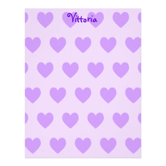 Vittoria in Purple Letterhead