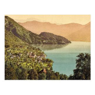 Vitznau, railway, Rigi, Switzerland classic Photoc Postcard