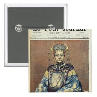 Viuda de emperatriz Tz'U-Hsi de China Pin Cuadrada 5 Cm