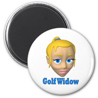 viuda de golf imán redondo 5 cm