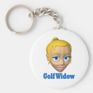 viuda de golf llavero redondo tipo pin