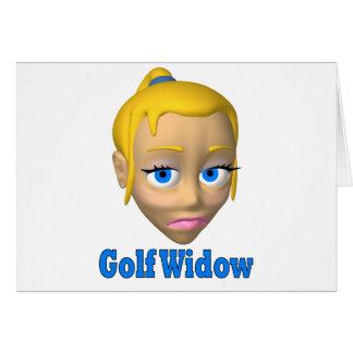 viuda de golf tarjeta de felicitación