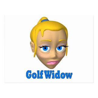 viuda de golf tarjetas postales