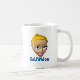 viuda de golf taza básica blanca