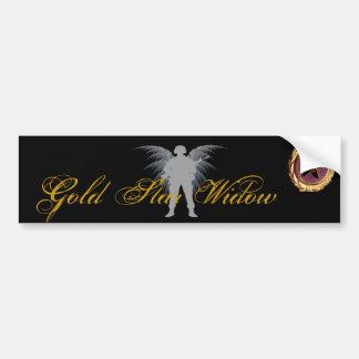 Viuda de la estrella del oro etiqueta de parachoque