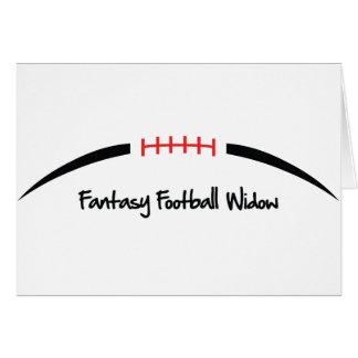 Viuda del fútbol de la fantasía felicitacion