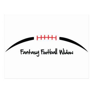 Viuda del fútbol de la fantasía postal