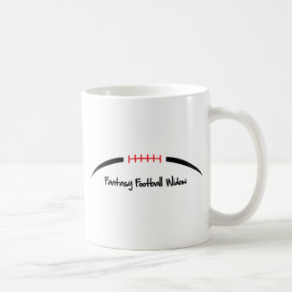 Viuda del fútbol de la fantasía taza de café