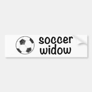 Viuda del fútbol pegatina para auto