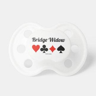 Viuda del puente (cuatro juegos de la tarjeta) chupetes para bebés