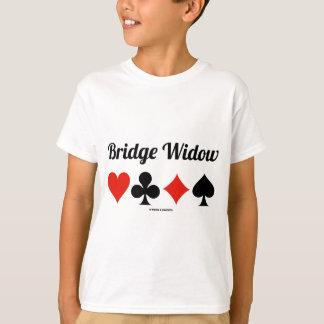 Viuda del puente (cuatro juegos de la tarjeta) playera