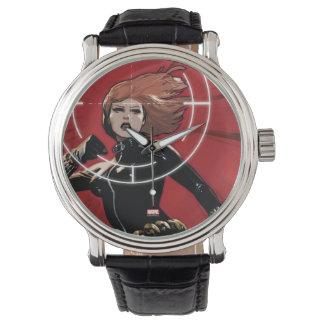 Viuda negra apuntada relojes de pulsera