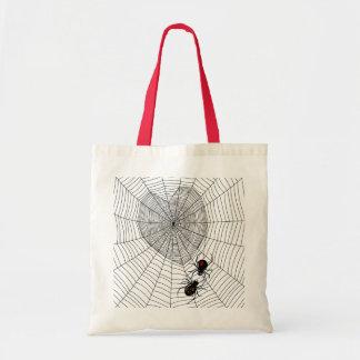 Viuda negra bolsas lienzo