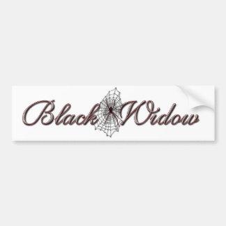 Viuda negra etiqueta de parachoque