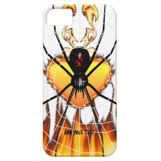 Viuda negra en el corazón del fuego iPhone 5 carcasa