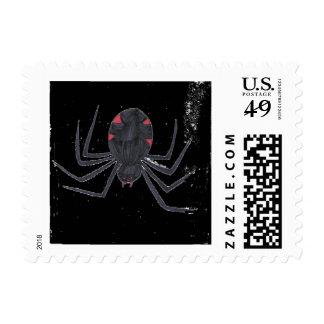 Viuda negra sello postal