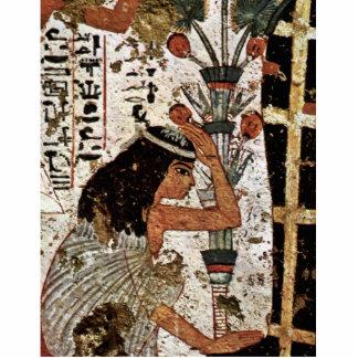 Viuda que se aflige de la momia de Maler Der Grabk Esculturas Fotograficas