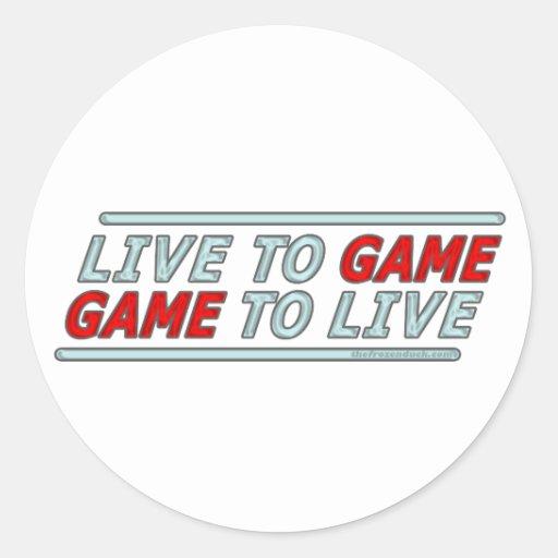 Viva al juego etiqueta redonda
