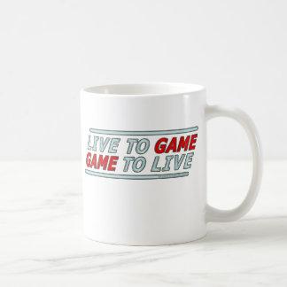 Viva al juego taza de café