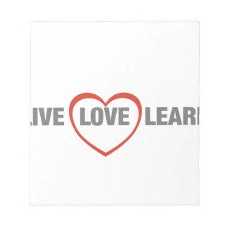 viva, ame, aprenda blocs