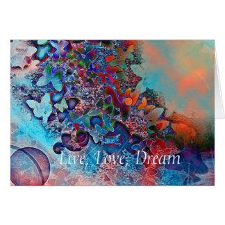 Viva, ame, soñe tarjeta pequeña